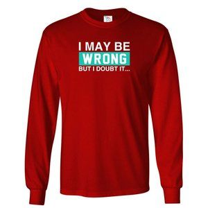 Youth Kids Wrong T-Shirt Long Sleeve